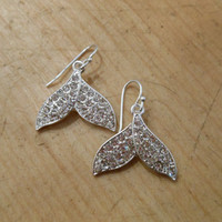Silver Mermaid Tail Earrings - Silver Mermaid Earrings