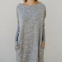 Casual Women Round Neck Long-Sleeved Dress
