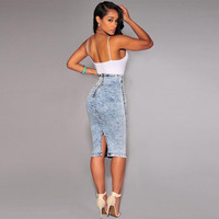 Women Sexy High Waisted Pencil Skirt = 5708541185