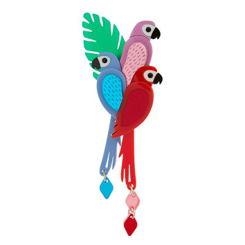 Parrot Brooch | Little Moose | Quirky jewellery and playful accessories that raise a smile and stand out from the crowd