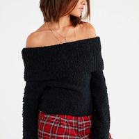UO Isadora Off-The-Shoulder Boucle Sweater | Urban Outfitters