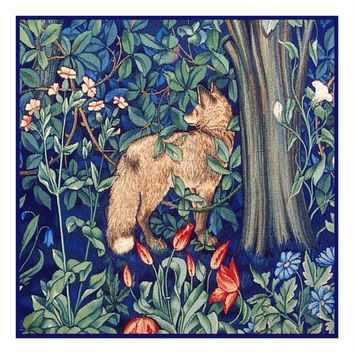 Forest Fox Henry Dearle and William Morris Design Counted Cross Stitch or Counted Needlepoint Pattern