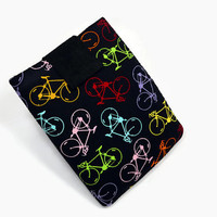 Hand Crafted Tablet Case from Bicycles/Bikes Cotton Fabric/ Tablet Case for iPad, Kindle Fire HD, Samsung Galaxy, Nook HD, Google Nexus,