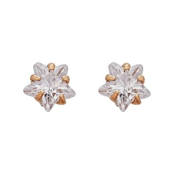 Decadence 14K Yellow Gold High-polished Turtle Silhouette Screw Back Stud Earring with CZ | Overstock.com Shopping - The Best Deals on Gold Earrings