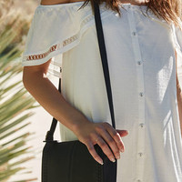 LA Hearts Woven Faux Leather Crossbody Bag at PacSun.com