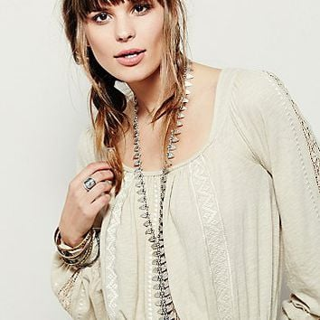 Free People Womens River Tie Metal Bolo