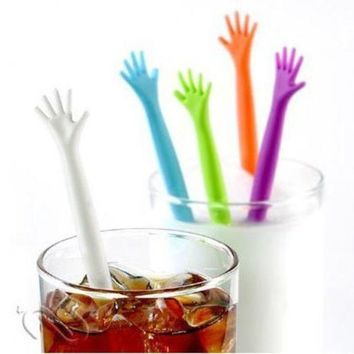 PEAPHY3 5pcs/set Hot Sale HELP ME Coffee Stirrer Stirring Rod Juices Spoon Bar Rrabble Rrod Drink Stirre Coffee Stir Stick Tools