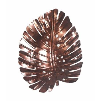 D Art Collection Iron Philodendron Leaf WallDecor New