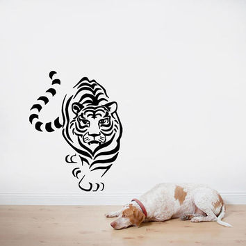 Tiger wall decal, wild animal wall stickers, zoo animal wall decals, animal print wall stickers, daniel tiger wall decals /i38