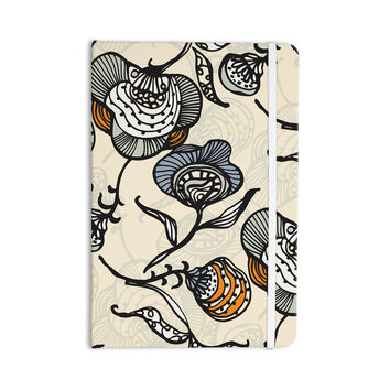 "Gill Eggleston ""Future Nouveau"" Tan Floral Everything Notebook"
