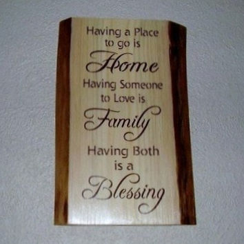 Inspirational Rustic Family Sign Having a place by RUSTICNORTHERN