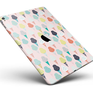 "The All Over Pink Ice Cream Cone Pattern Full Body Skin for the iPad Pro (12.9"" or 9.7"" available)"