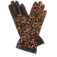 mytheresa.com - Jenny leopard-print calf hair and leather gloves - Luxury Fashion for Women / Designer clothing, shoes, bags