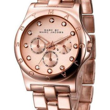 ONETOW MARC BY MARC JACOBS fashion exquisite watch Rose gold B-PS-XSDZBSH