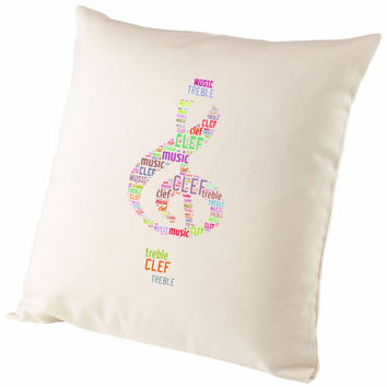 Personalised Word Cloud Art Treble Clef Shape