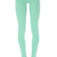 Colored Skinny Jeans in Spearmint :: tobi