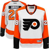 #28 Claude Giroux Philadelphia Flyers Reebok Premier Player Jersey – White