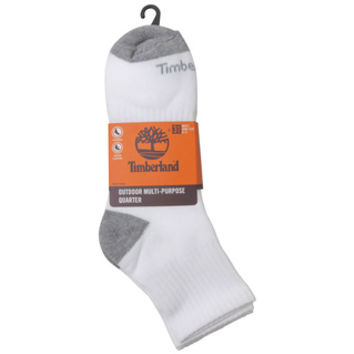 Timberland Multi-Purpose Quarter Crew Sock 3-Pack