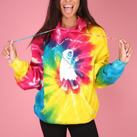 Buy More Records Grim Reaper Tie-Dye Hoodie