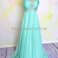 PROM 2014 MINT LONG EVENING PAGEANT FORMAL GOWN DRESS XL 12/14 MADELYN
