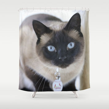 Innocent Expression Shower Curtain by Theresa Campbell D'August Art