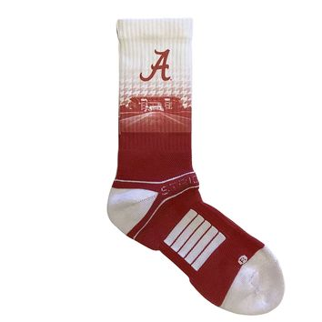Strideline Alabama Crimson Tide Stadium White Premium Crew Socks