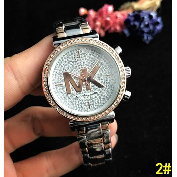 MK Newest Women Men Business Movement Watches Lovers Wristwatch 2#