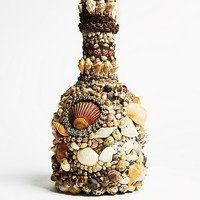 Free People Vintage 1960s Shell Mosaic Bottle