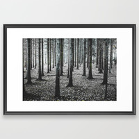 Coma forest Framed Art Print by happymelvin