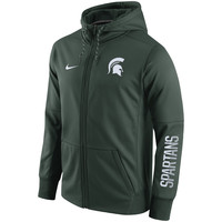Michigan State Spartans Nike Circuit Full-Zip Performance Hoodie - Green