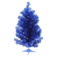 2' Unlit Tinsel Tree - Blue