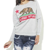 Cali Republic Bear Sweatshirt | Shop Sweaters at Wet Seal