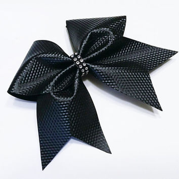 Cheer bow, Black cheer bow, carbon fiber look, cheerleading bow, cheerleader bow, cheerbow, softball bow, pop warner cheer bow,practice bow