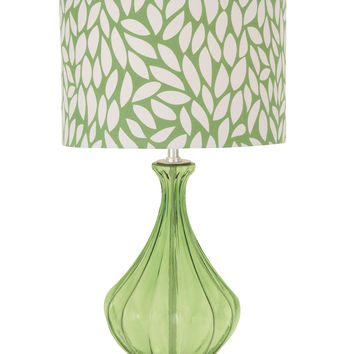 The Cool Green Glass Acrylic Table Lamp