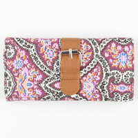 Medallion Buckle Wallet Multi One Size For Women 24221195701