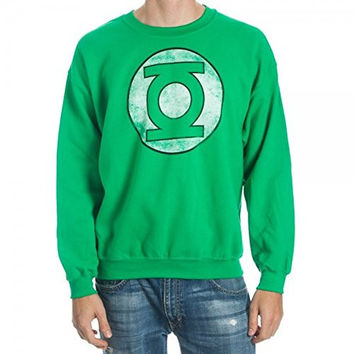 Green Lantern Distressed Symbol Sweatshirt