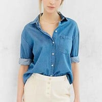 COPE Exposed-Button Slouchy Short- Ivory