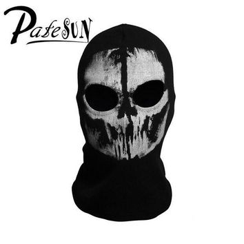CREYCI7 PATESUN Skull Balaclava Men Winter Hats Gothic Ghost Face cs go Mask Motorcycle Halloween Bicycling Caps bonnet