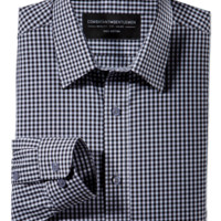 Consultant Black Gingham Check Button-Up Woven