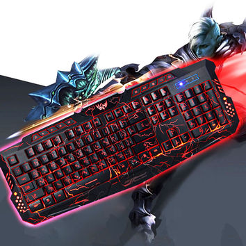 Gaming Keyboard with 3 Backlight Modes