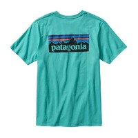 Patagonia Mens P-6 Logo T-Shirt in Howling Turquoise 38910