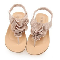 Open Toe Melissa Women Sandal New Summer Woman Sandals Shoes Camellia Slippers Flip Flops Jelly Flats Size 35-39