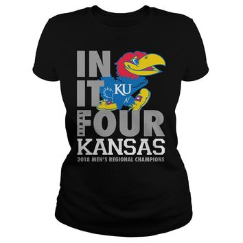 Kansas Jayhawks final four in it Ku shirt Premium Fitted Ladies Tee