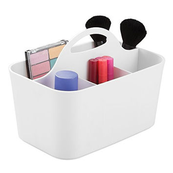 mDesign Cosmetic Vanity Organizer Caddy, Storage for Beauty Makeup, Hair  Accessories, Nail Polish