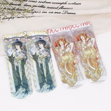 Foot 22-25cm Silk Socks Greek Mythology Xochipilli Flora Chloris Gods Drawing Ancient Myths Painting Nectar La Tosca Drama Naked