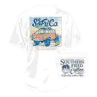 Morning Surf in White by Southern Fried Cotton