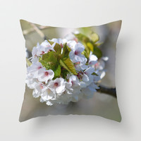 First Blossom Throw Pillow by Shalisa Photography