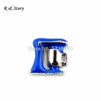 Hot Blue Kitchen Mixer Bakers Dessert Pie Floating Charm F/ Glass Memory Lockets LFC_420