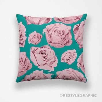 Roses designer pillows, Cushions online, Pillow covers by ReStyleGraphic