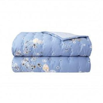 Ramage Quilted Coverlet by Yves Delorme